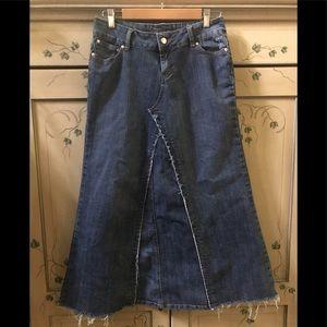 Younique Boho denim maxi skirt